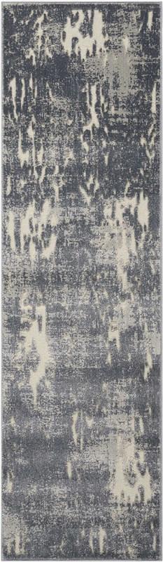 Michael Amini Ma60 Gleam Power Loomed Ivory/grey Area Rugs