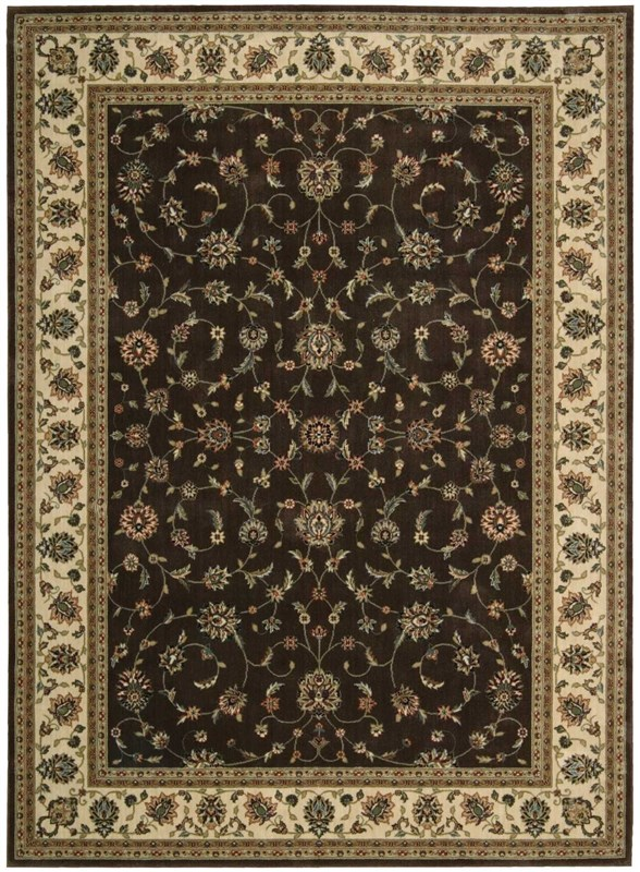 Persian Arts Machine Woven Chocolate Area Rugs