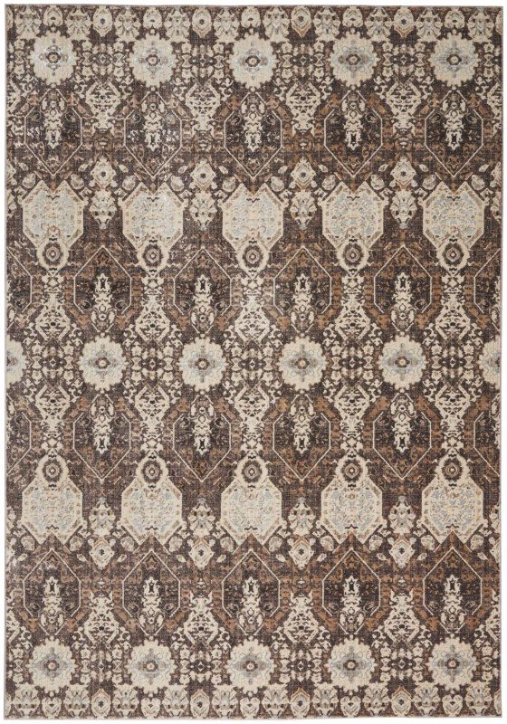 Silver Screen Kathy Ireland Worldwide Mocha/slate Area Rugs