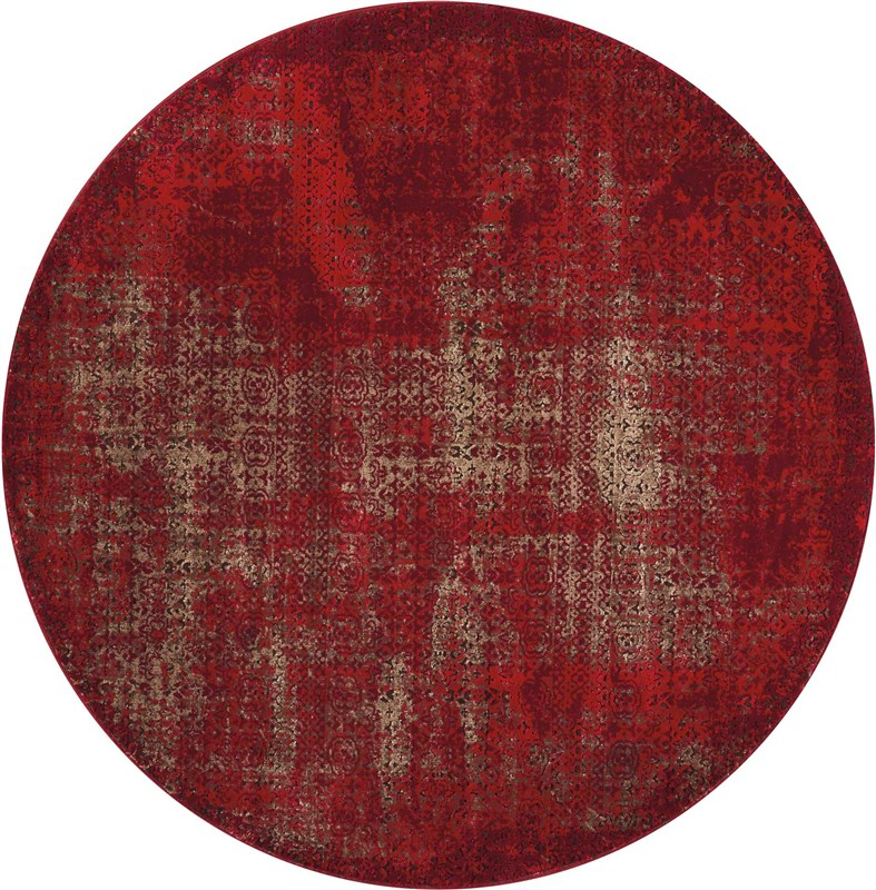 Karma Machine Woven Red Area Rugs