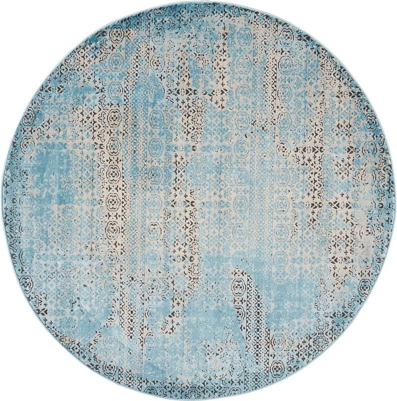 Karma Machine Woven Blue Area Rugs