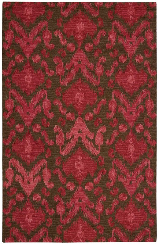 Siam  Hand Tufted Brown/red            Area Rugs