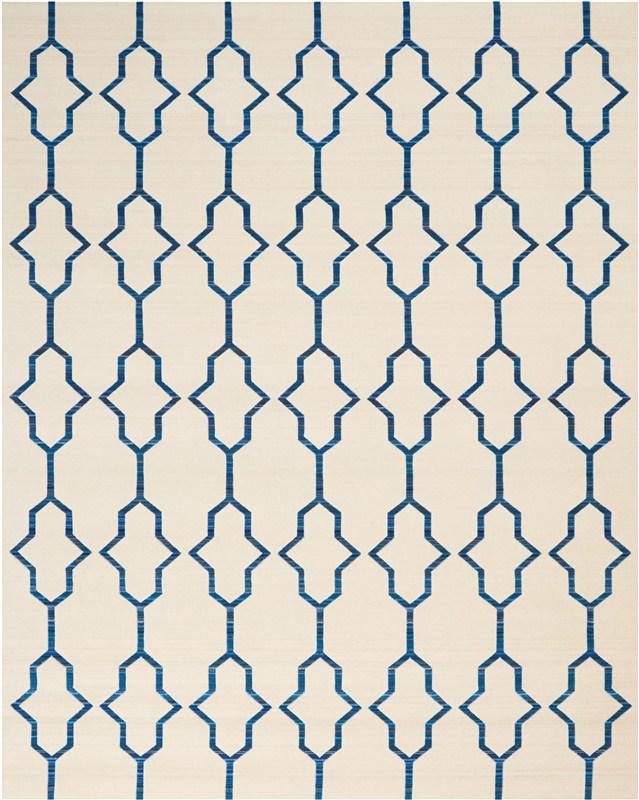 Butera Loom Woven Ivory/navy Area Rugs