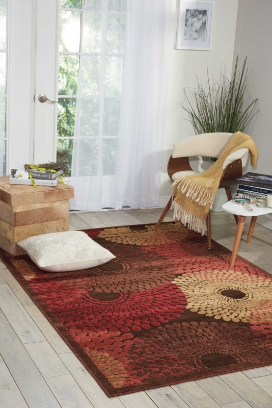 Graphic Illusions Machine Woven Ivory Blue Area Rugs