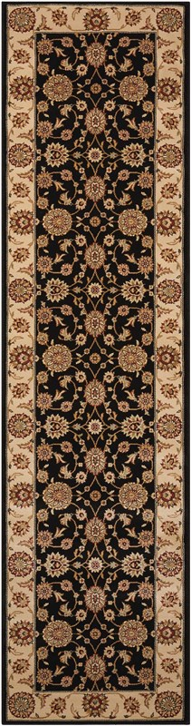 Persian Crown Machine Woven Charcoal/ivory Area Rugs