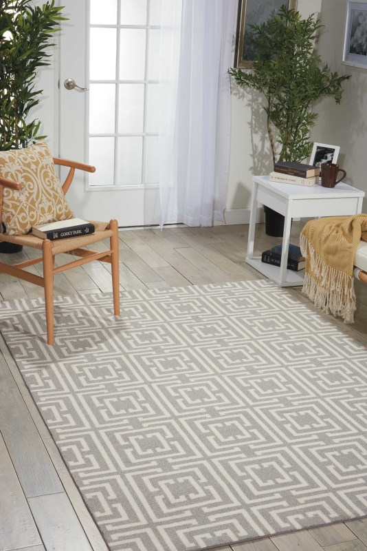 Enhance Machine Printed Tan Area Rugs