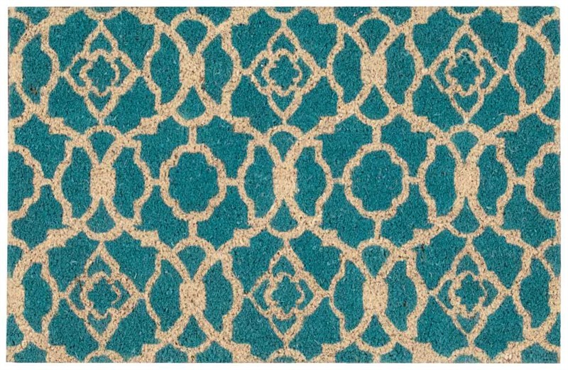 Wave Greetings Tufted Teal Area Rugs