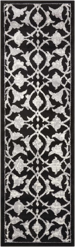 Atash Machine Woven Black Area Rugs