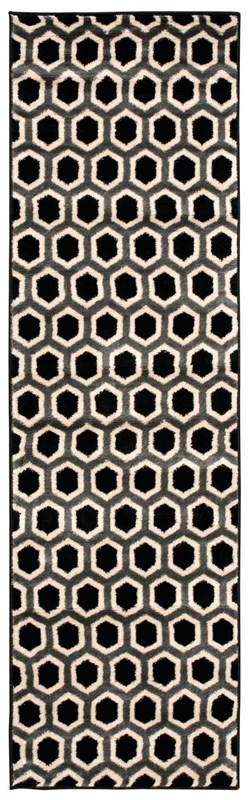 Nova Machine Woven Black/white Area Rugs