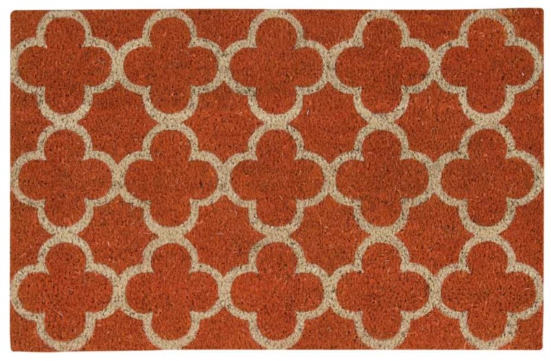 Wave Greetings Tufted Orange Area Rugs