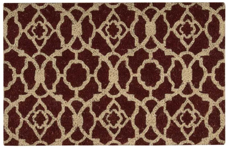 Wave Greetings Tufted Rust Area Rugs