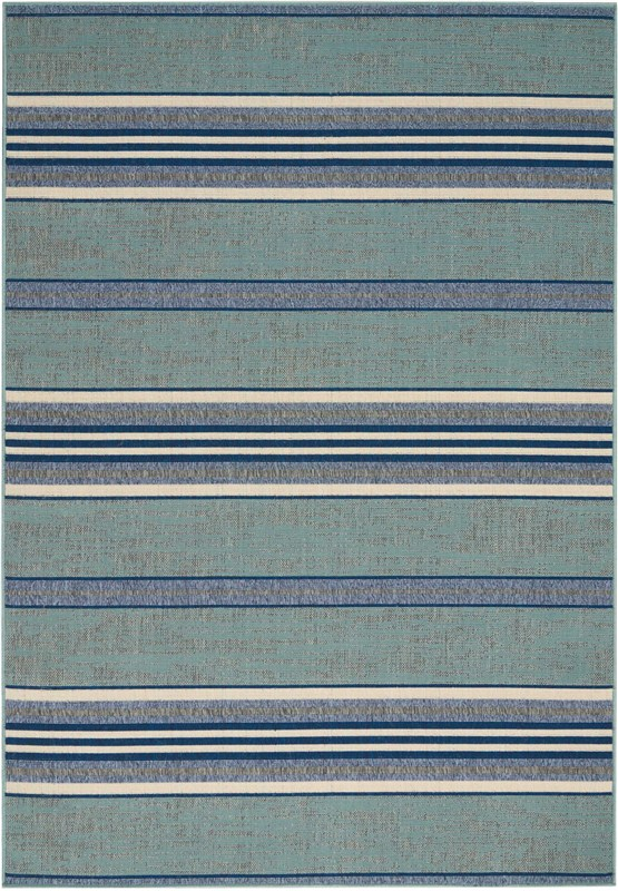 Bbl21 Lido Machine Made Aqua/blue Area Rugs