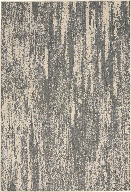 Bbl21 Lido Machine Made Grey Cream Area Rugs