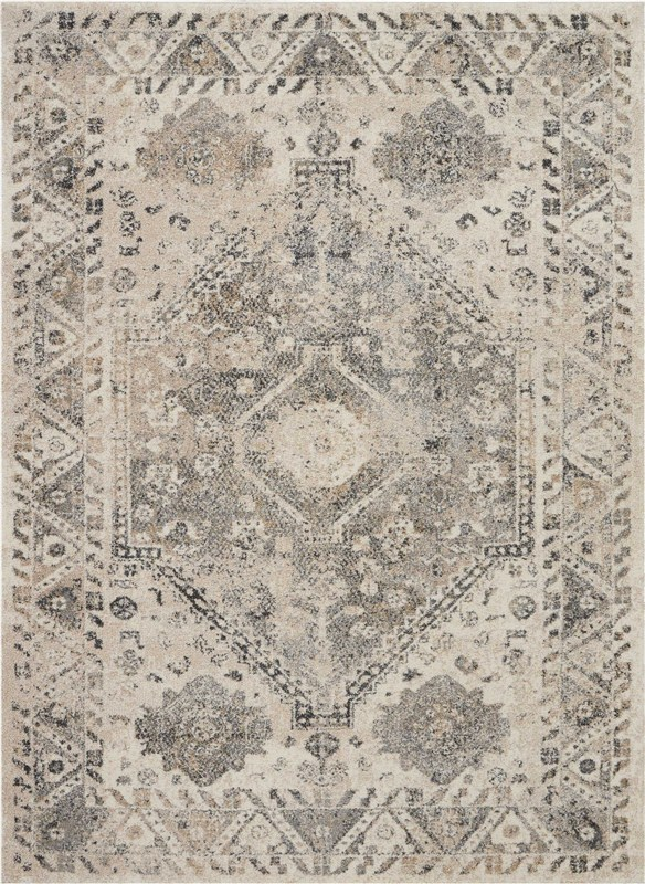 Fusion Machine Woven Cream/grey Area Rugs