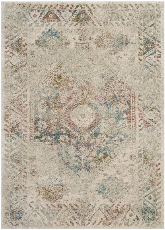 Fusion Machine Woven Cream Area Rugs