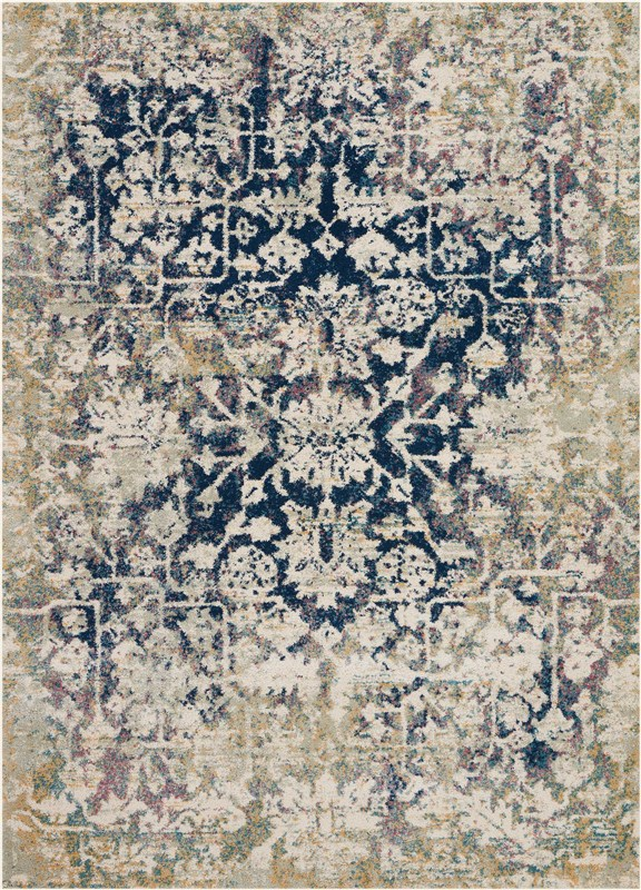 Fusion Machine Woven Cream/blue Area Rugs