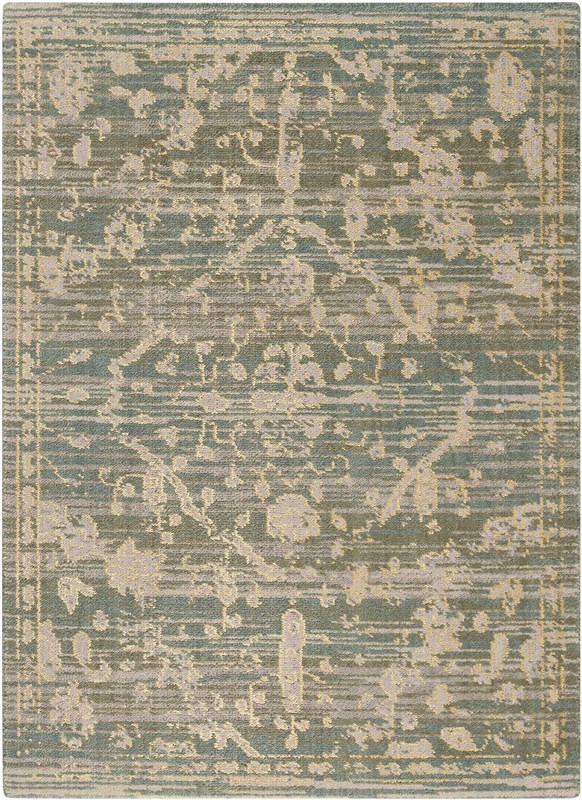 Silk Elements Machine Woven Azure Area Rugs