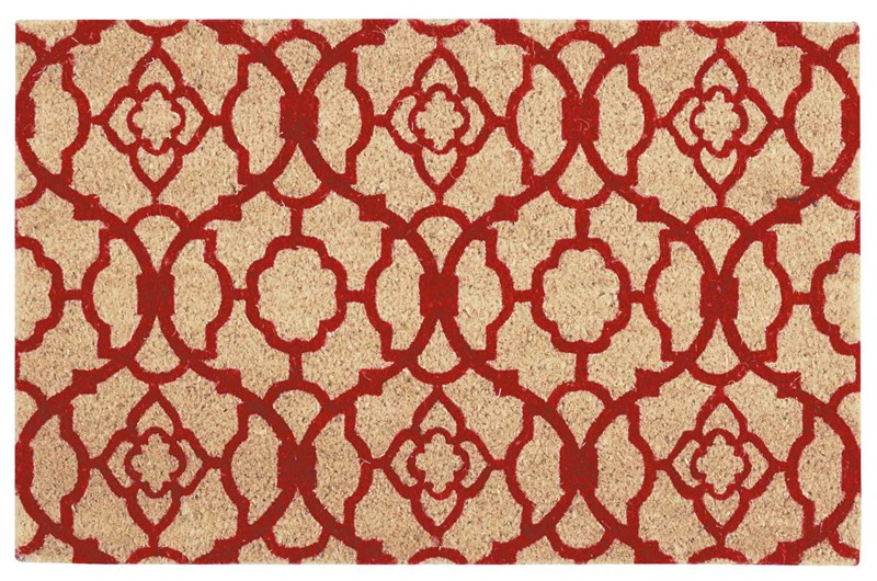 Wave Greetings Tufted Red Area Rugs