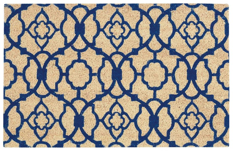 Wave Greetings Tufted Navy Area Rugs