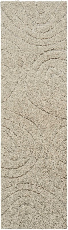 Austin Machine Woven Cream Area Rugs