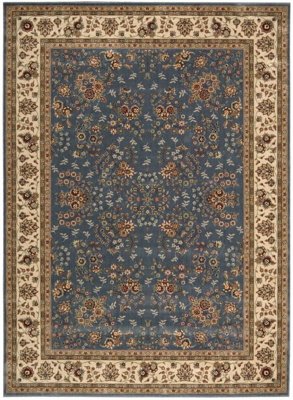 Persian Arts Machine Woven Light Blue Area Rugs