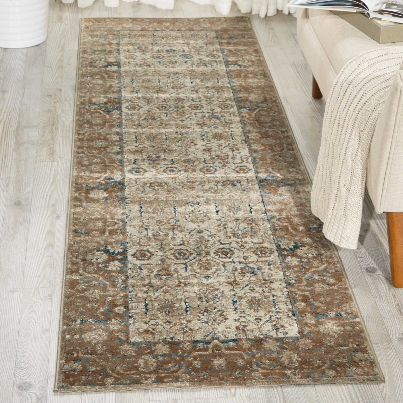 Malta Machine Made Taupe Area Rugs