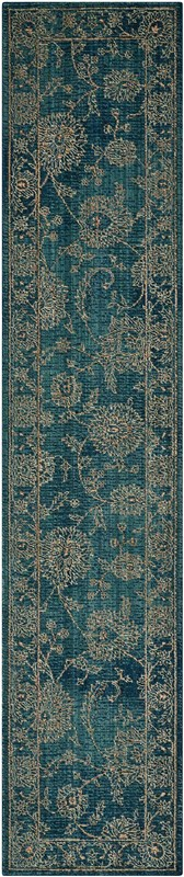 Nourison 2020 Machine Woven Teal Area Rugs