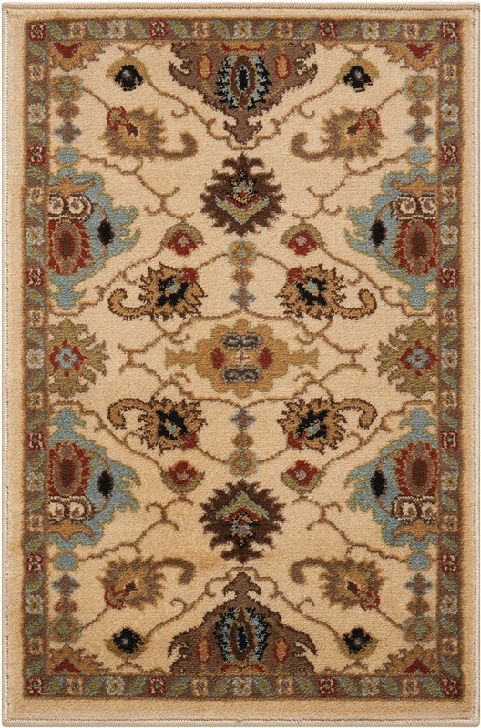 Delano Machine Woven Ivory Area Rugs
