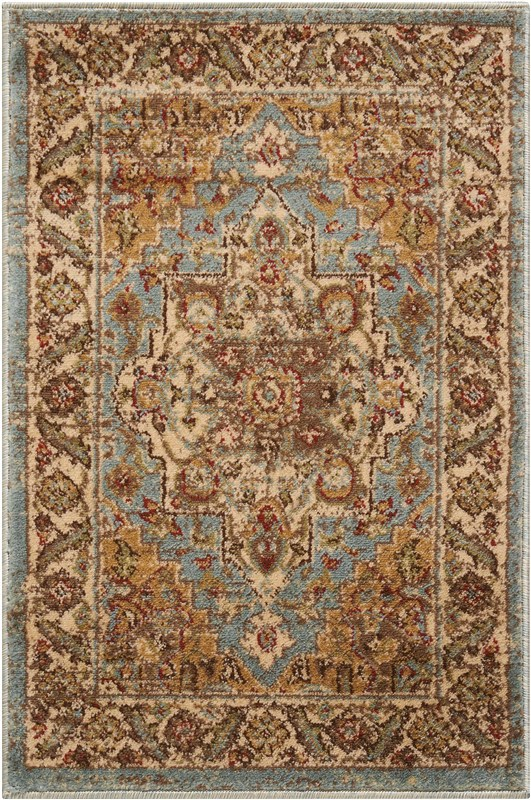 Delano Machine Woven Blue Area Rugs
