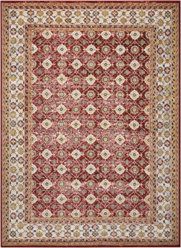 Aria Machine Woven Red Area Rugs