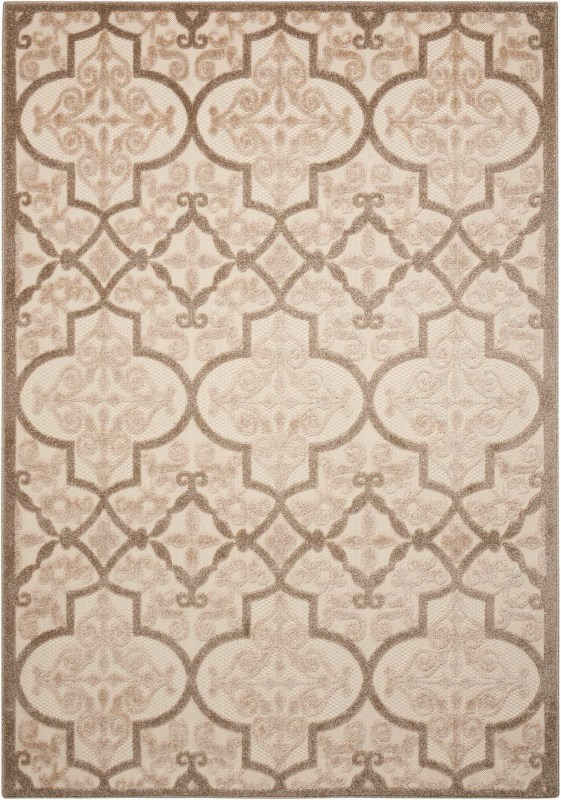 Aloha Machine Woven Cream Area Rugs