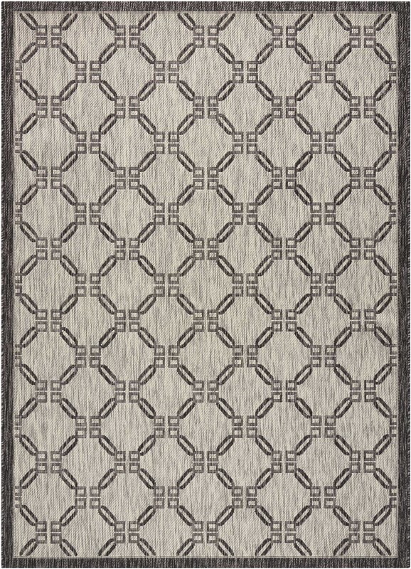 Garden Party Machine Woven Charcoal Area Rugs