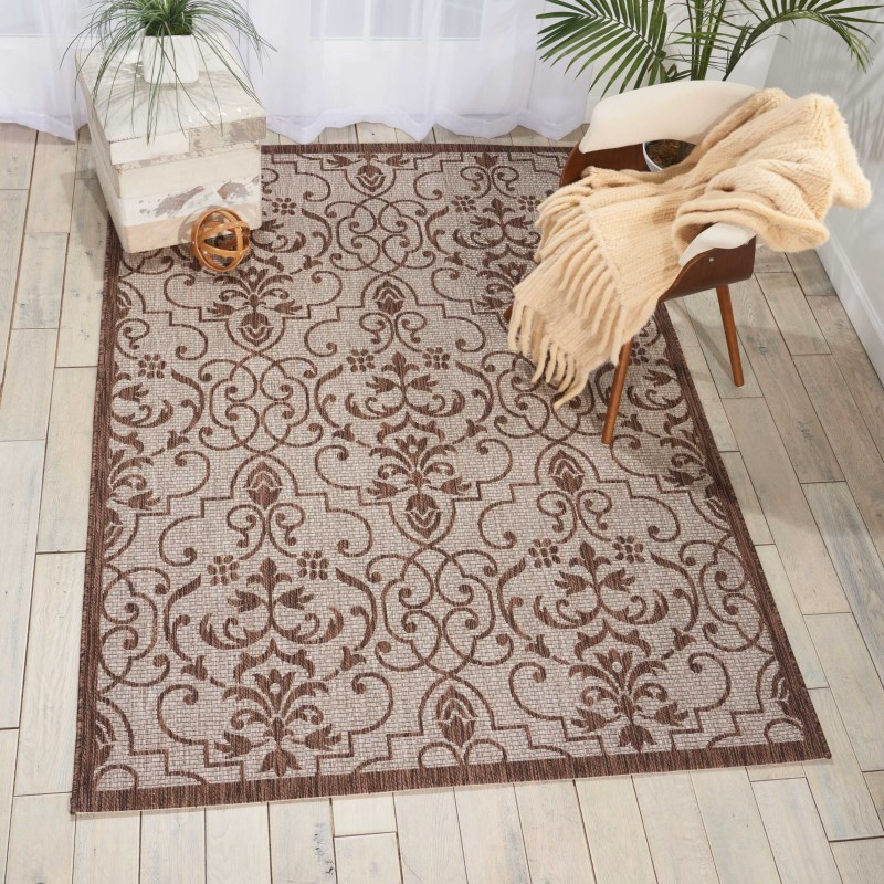 Garden Party Machine Woven Denim Area Rugs