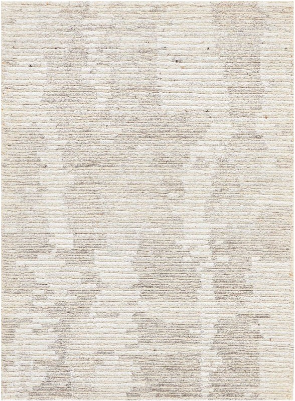Ellora Hand Knotted Ivory/grey Area Rugs