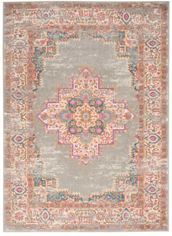 Passion Machine Woven Blue Area Rugs