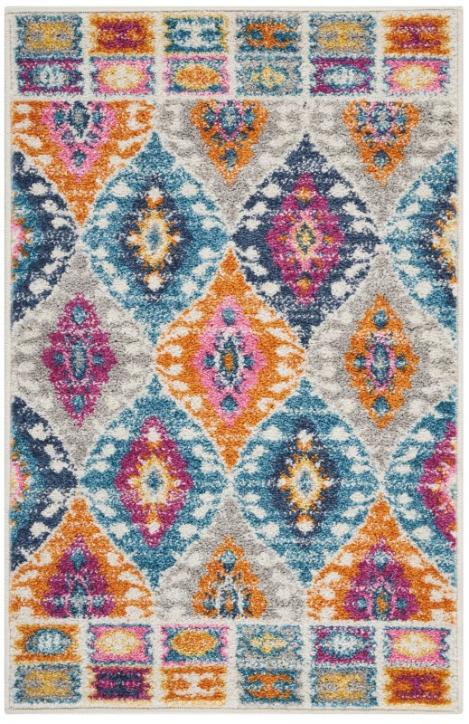 Passion Machine Woven Multicolor Area Rugs