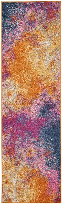 Passion Machine Woven Sunburst Area Rugs