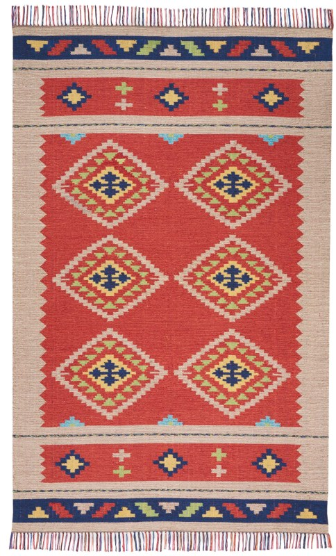 Baja Hand Woven Blue Green Area Rugs