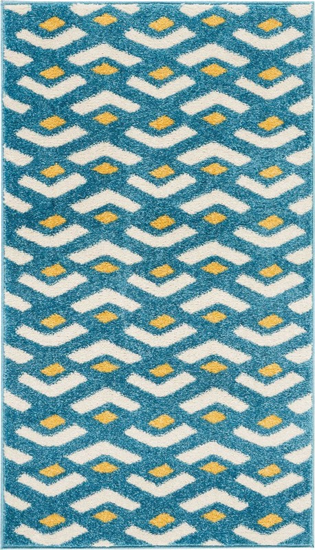 Harper Machine Woven Blue Area Rugs