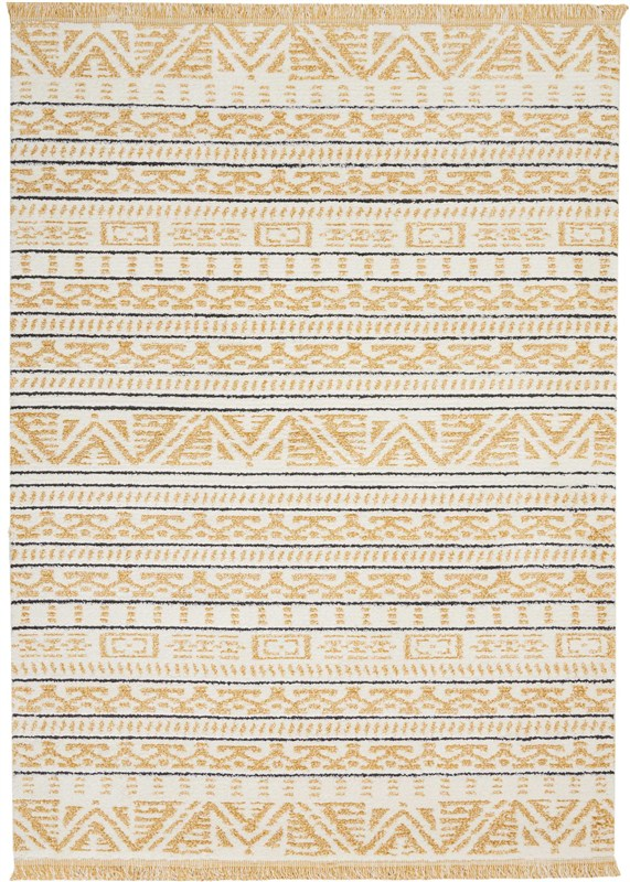 Kamala Machine Woven Yellow Area Rugs