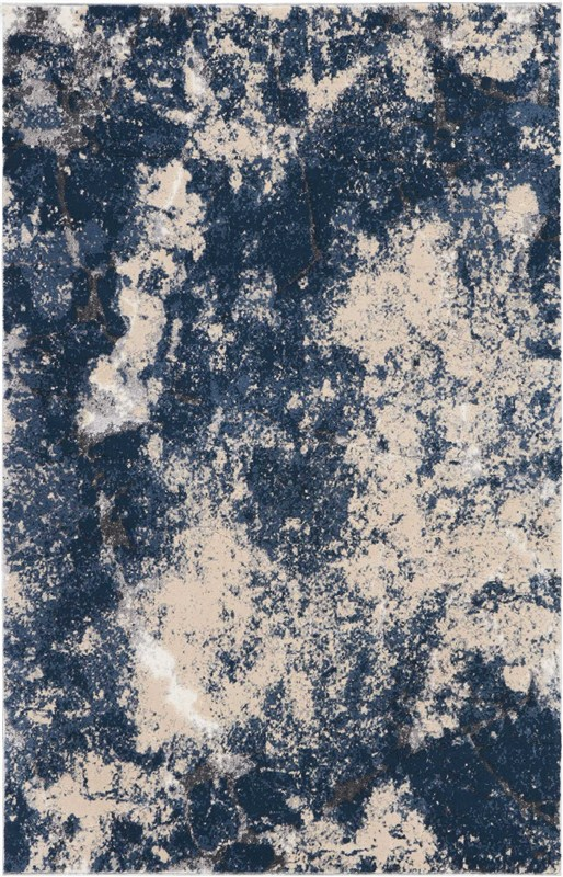 Heritage Machine Made Beige Blue Area Rugs