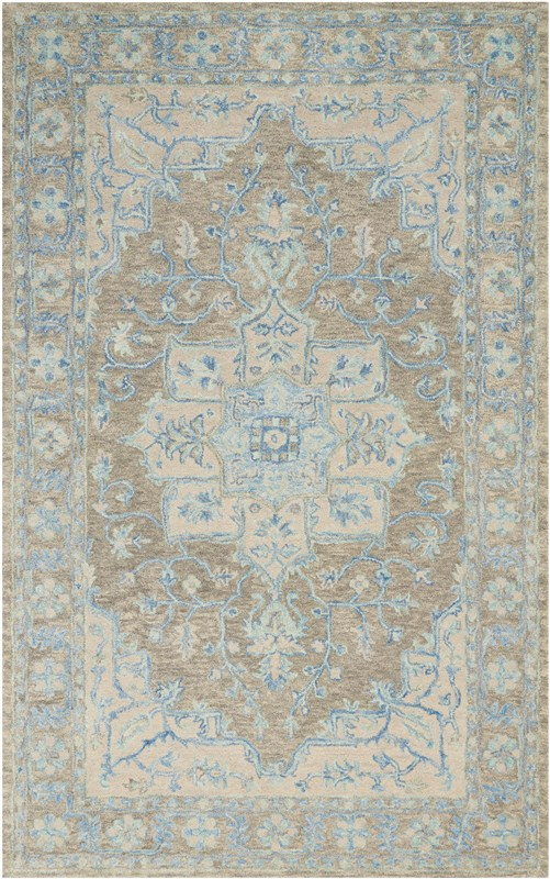 Jazmine Hand Tufted Grey/blue Area Rugs