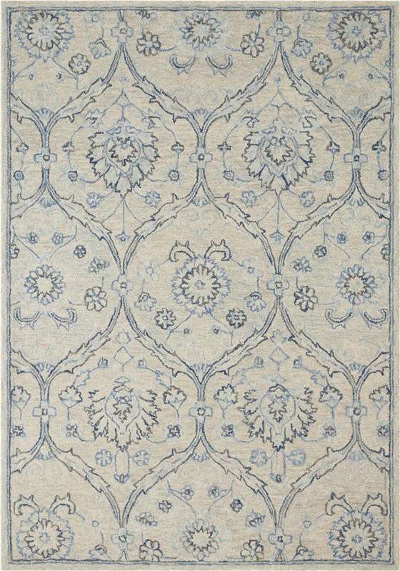 Jazmine Hand Tufted Ivory/blue Area Rugs