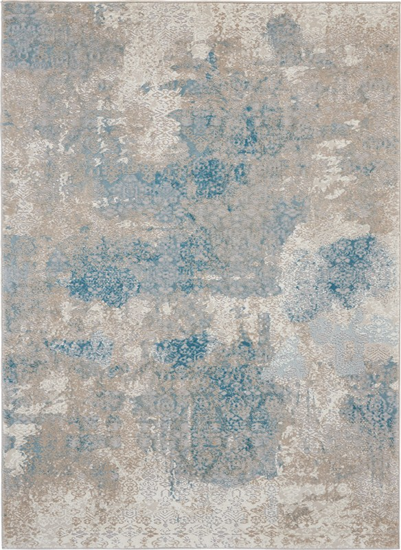 Nourison Karma 3'9 X 5'9 Ivory/light Blue Area Rug
