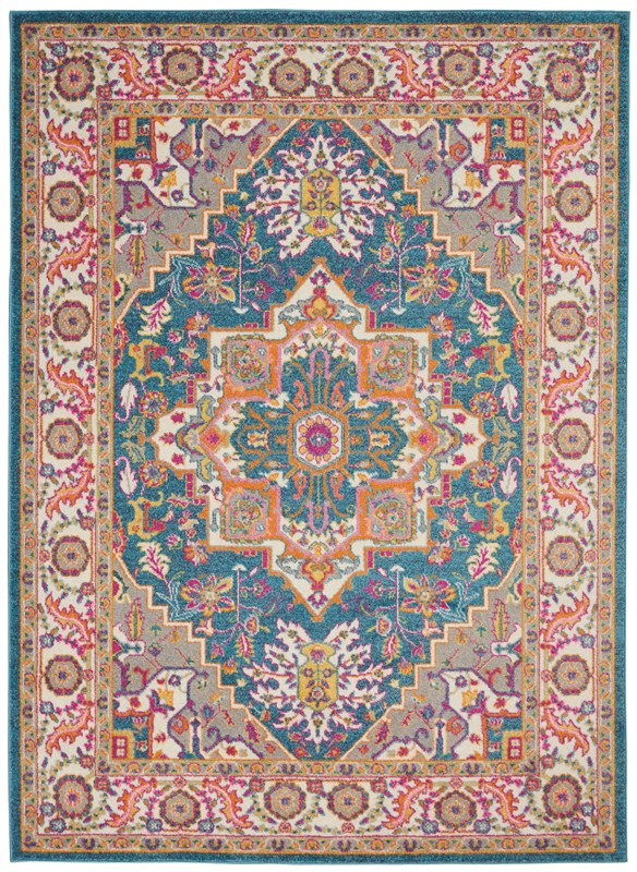 Nourison Passion 3'9 X 5'9 Teal Multicolor Area Rug