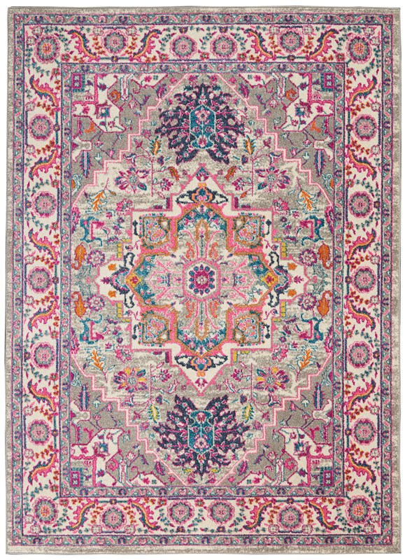Nourison Passion 3'9 X 5'9 Light Grey/pink Area Rug