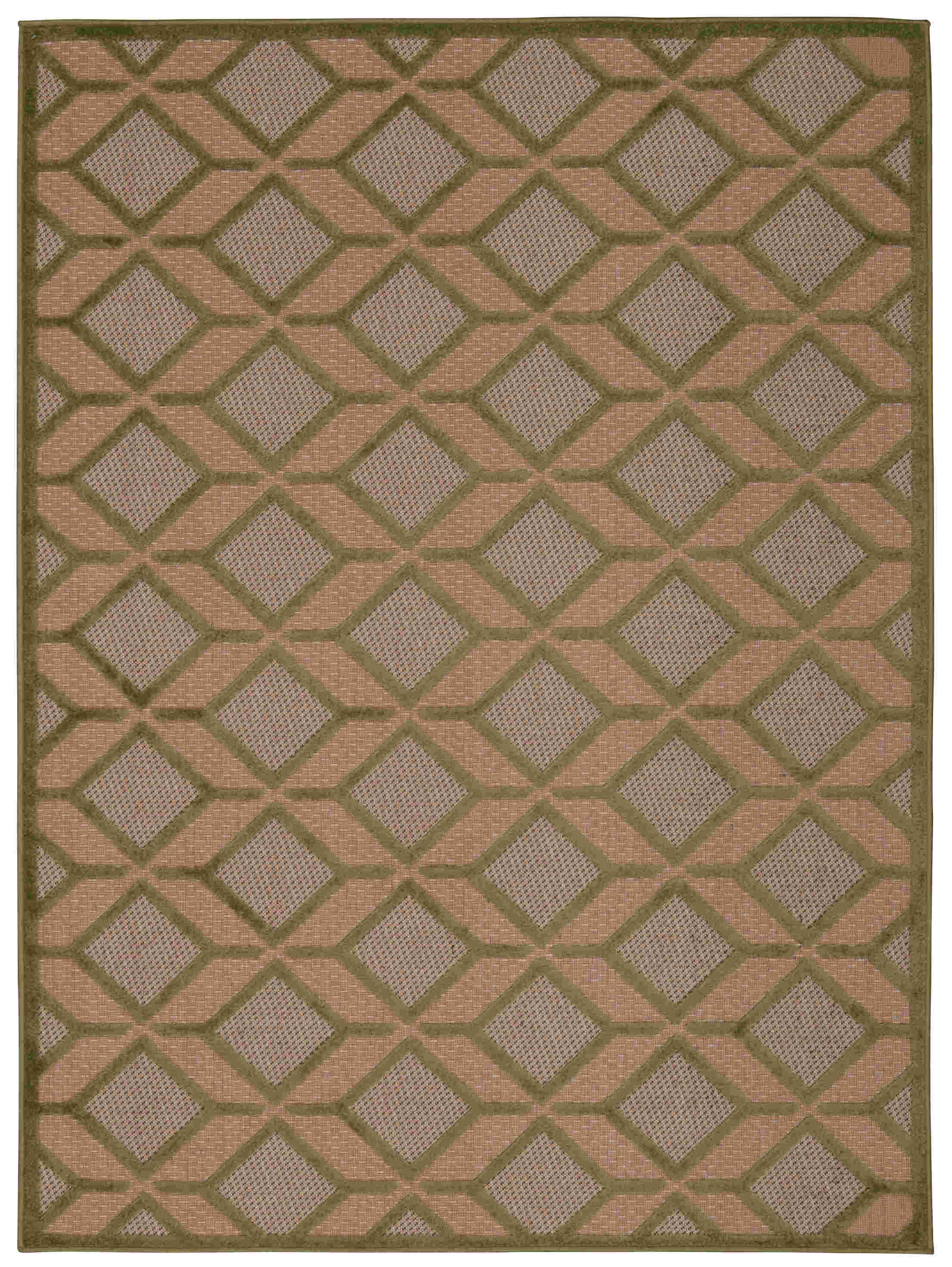 Aloha Machine Woven Green Area Rugs