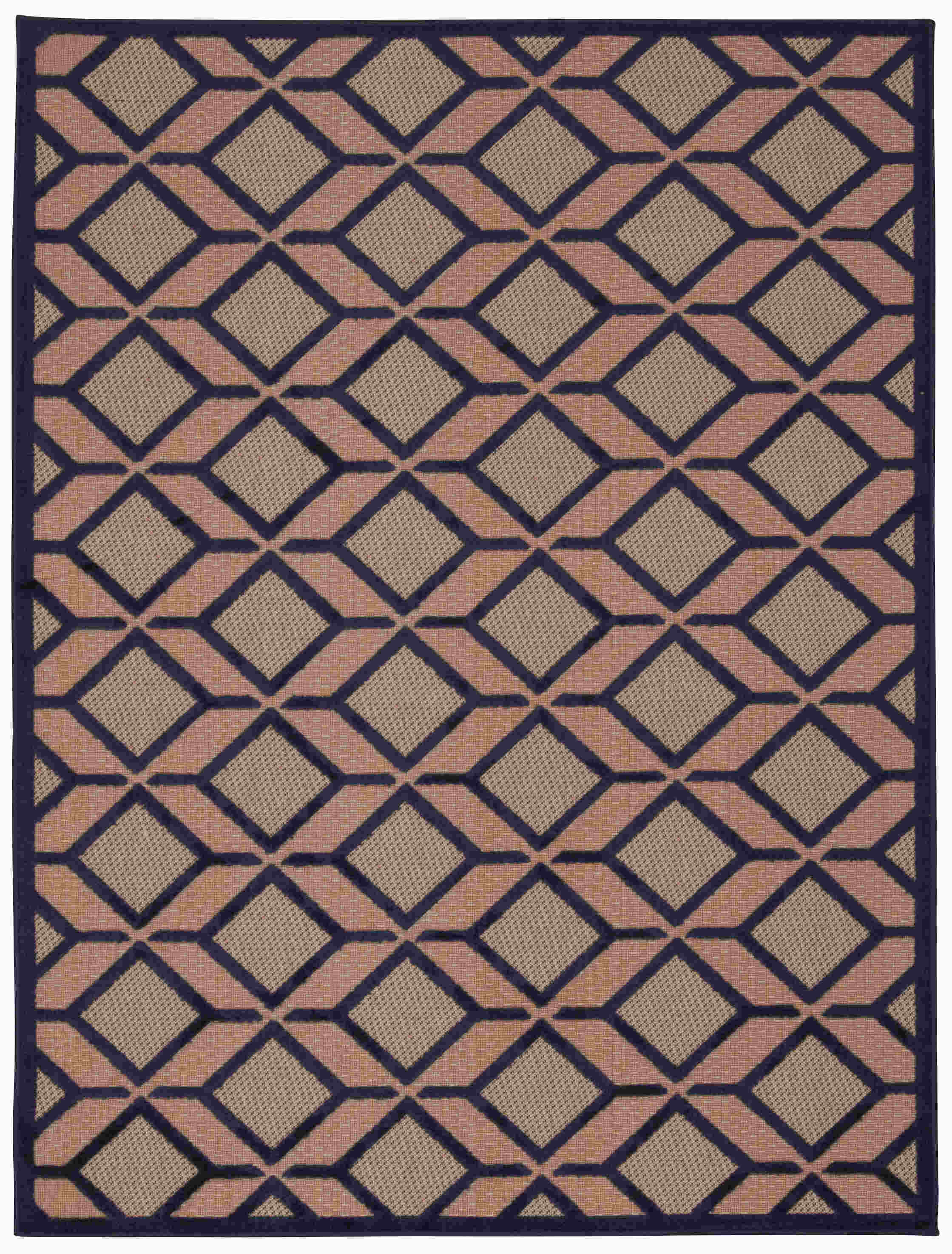 Aloha Machine Woven Navy Area Rugs