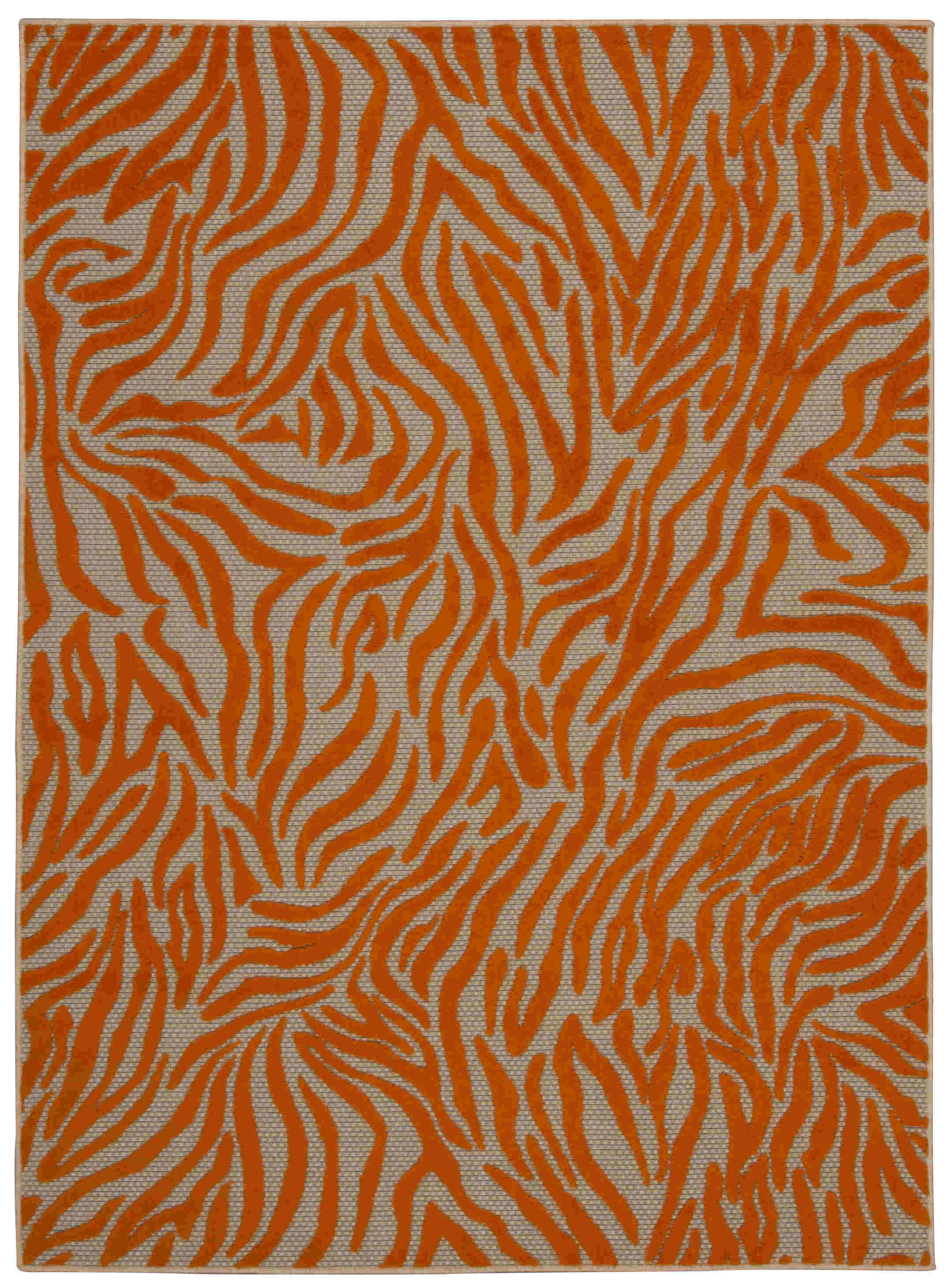 Aloha Machine Woven Orange Area Rugs