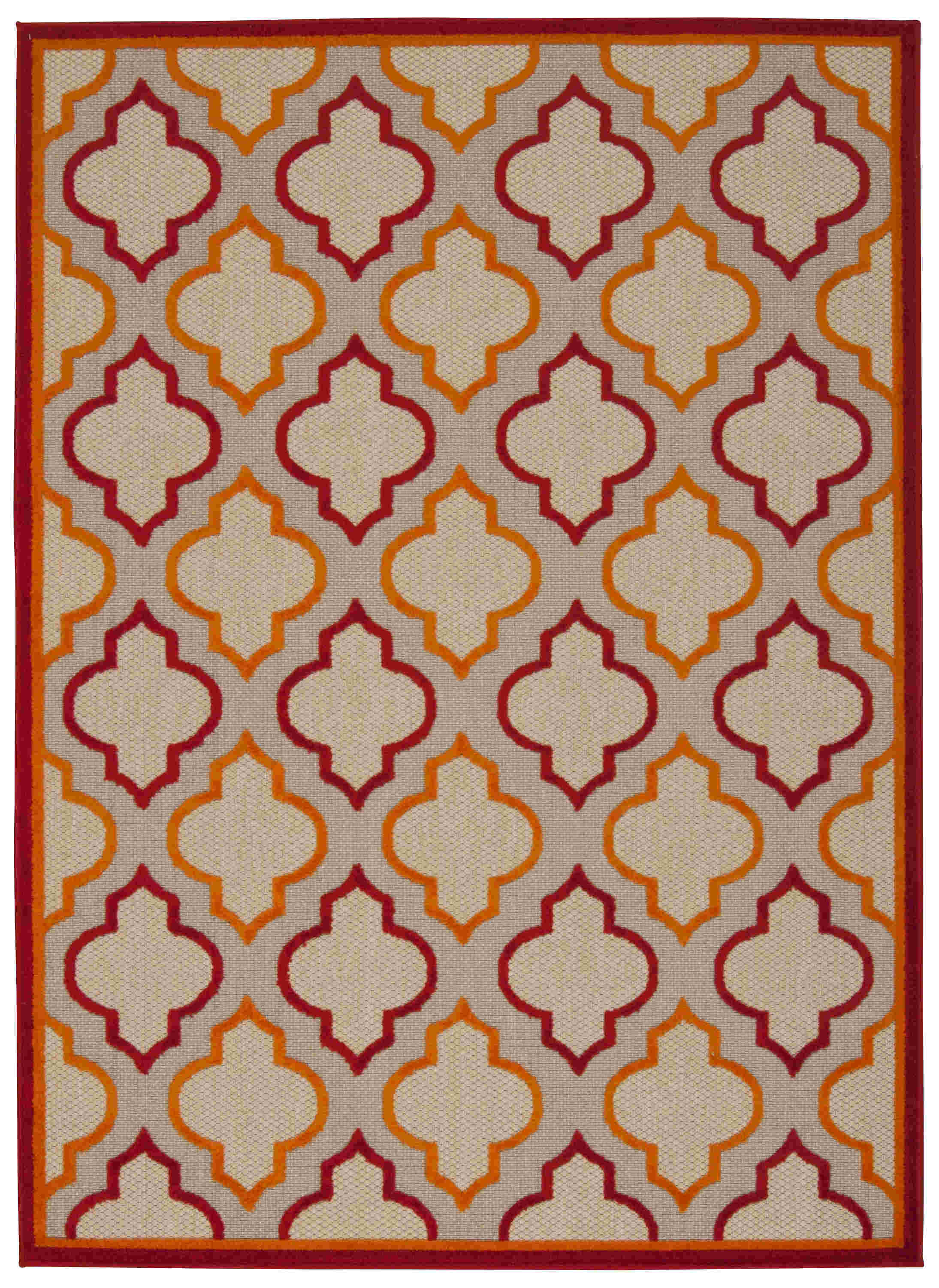 Aloha Machine Woven Red Area Rugs